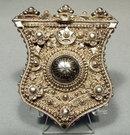 Antique Turkish Ottoman Silver Gun Pouch, 18th century