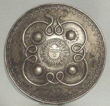 Antique Indo-Persian steel Shield Dhal Separ, 18th century