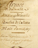 Antique Napoleonic Document Polish Officers Names Dalmatia