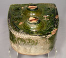 Ancient Chinese Green Glaze Ceramic Han Dynasty Stove Model