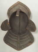Antique Lobstertail Cromwellian Helmet Armor 17th century