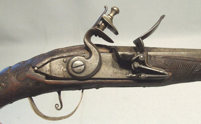 Antique 18th century Flintlock Gun Pistol