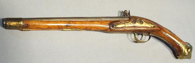 Antique 18th century Flintlock Pistol Gun