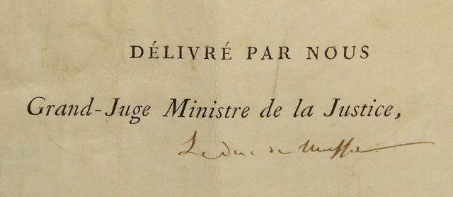 Antique 19th century Napoleonic Document Signed Marie Louise
