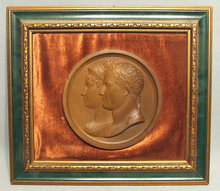 Antique Napoleonic Medal Napoleon & Josephine, 19th century
