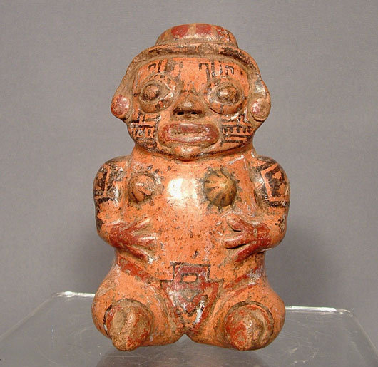 Ancient Ceramic Nicoya Pre Columbian Female Figure