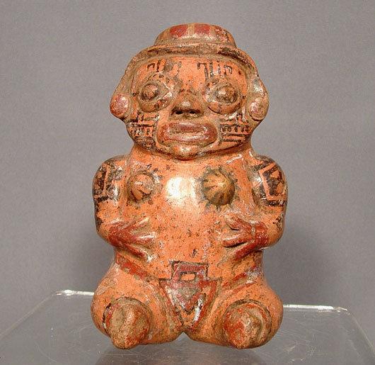 Ancient Ceramic Nicoya Pre Columbian Female Figure