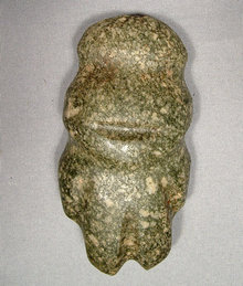 Ancient Axe Figure Mezcala, Pre Columbian (300-100 BC)