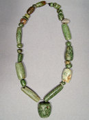 Ancient Mayan Jade Pre Columbian Necklace