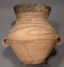 Antique Chinese Neolithic  Ceramic  Amphora, 3rd-2nd Millennium BC