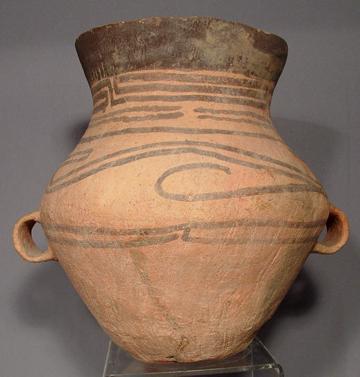 SOLD Antique Chinese Neolithic  Ceramic  Amphora, 3rd-2nd Millennium BC