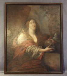 17th Century Painting Mary Magdalene Attributed Guido Reni