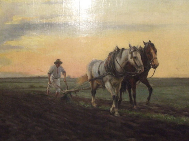 Antique Polish Ukrainian Painting Pstrak Yaroslav