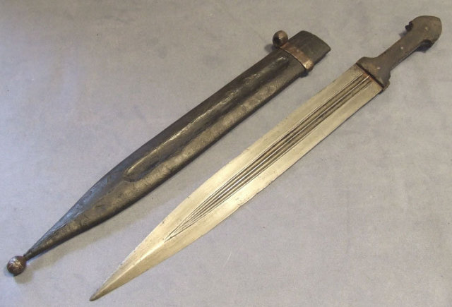 Antique Russian Sword Caucasian Dagger Kindjal