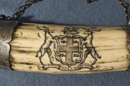 Antique 19th century Canadian silver Mounted Scrimshaw