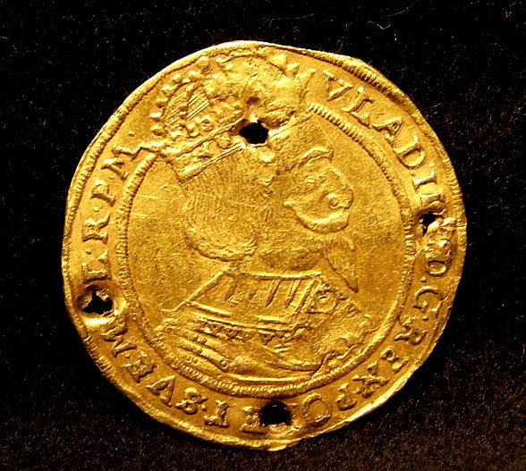 Polish Gold Ducat Coin Poland Torun, 17th century