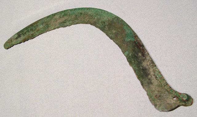 Ancient Celtic Ritual Bronze Sickle