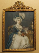 Antique 18th century Miniature Portrait on Ivory