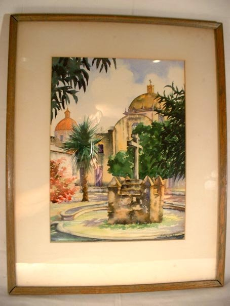 Latin American Watercolor Signed M. Figueras? (2)