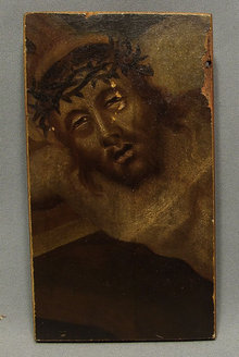 18th century Painting Thorn Crowned Head of Christ.