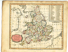 Antique Map England and Wales 1807