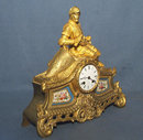 SOLD Antique 19th century Ormolu French Mantel Clock
