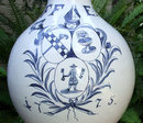 Antique 18th century Hanau Faience Enghalskrug Jug