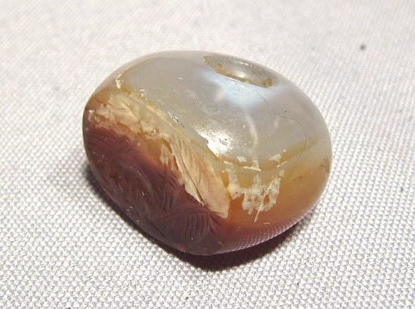 Ancient Agate Seal Sassanian Persian 4th-6th century AD