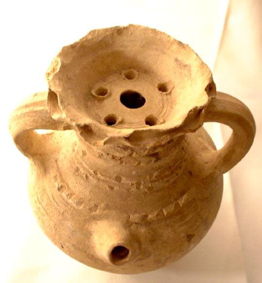 Ancient Roman Terracotta Wine Ewer