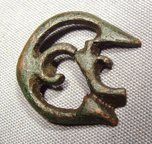 Antique Celtic Pin, Bronze, circa 800-475 BC
