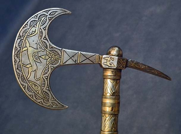 Antique 19th century Islamic Turkmen Axe