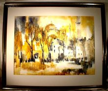 SOLD  Istanbul Constantinople Watercolor Turkish Painting