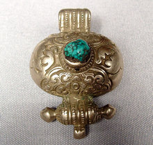 SOLD Antique Tibetan Silver Amulet, 18th -19th century