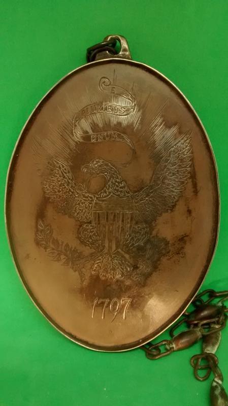 Indian Peace Medal Oval Eagle 1797