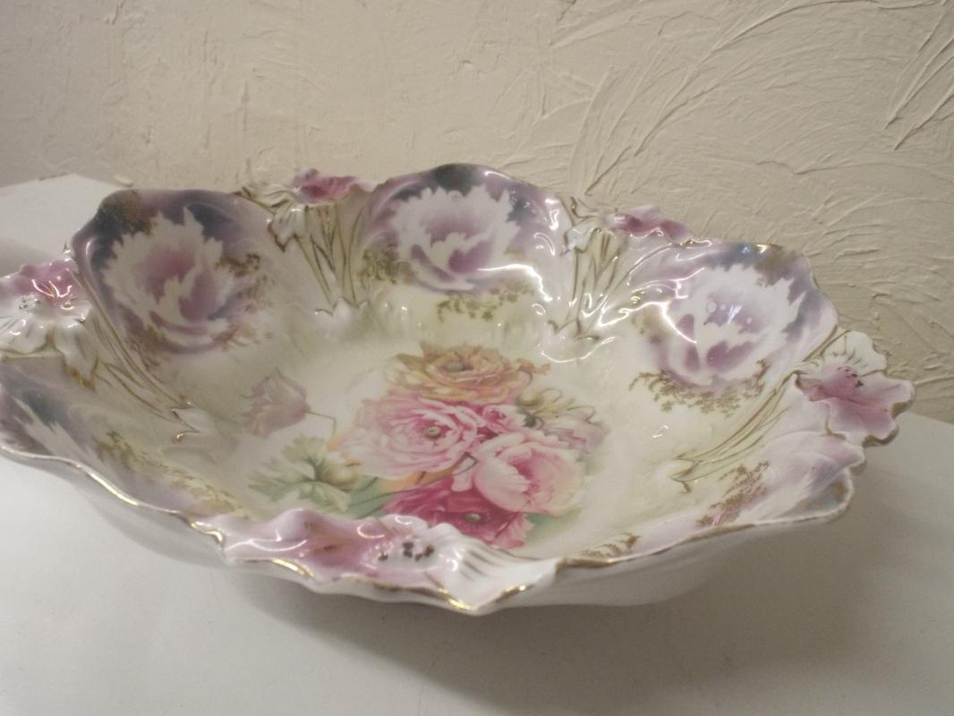 Prussia Colorful Flowers Serving bowl