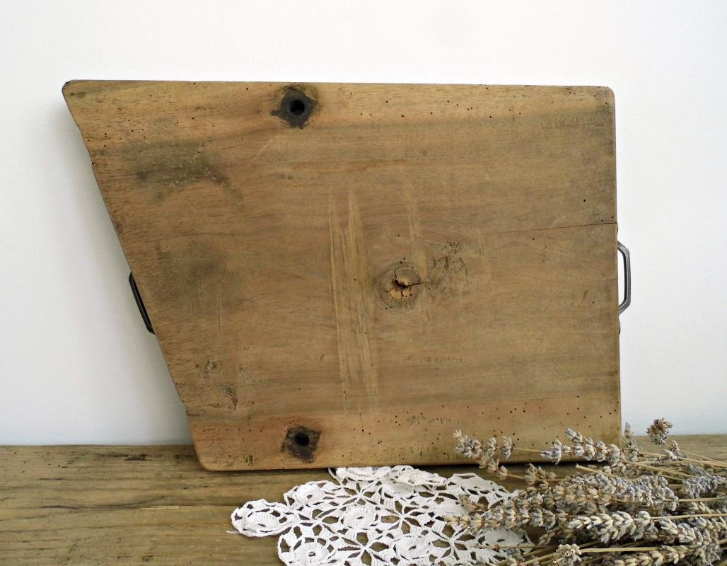 Antique Butchers Block Chopping Board Cutting Board Vintage Board Handles Large Wood Rustic Bread Cheese Serving Board Primitive Farmhouse