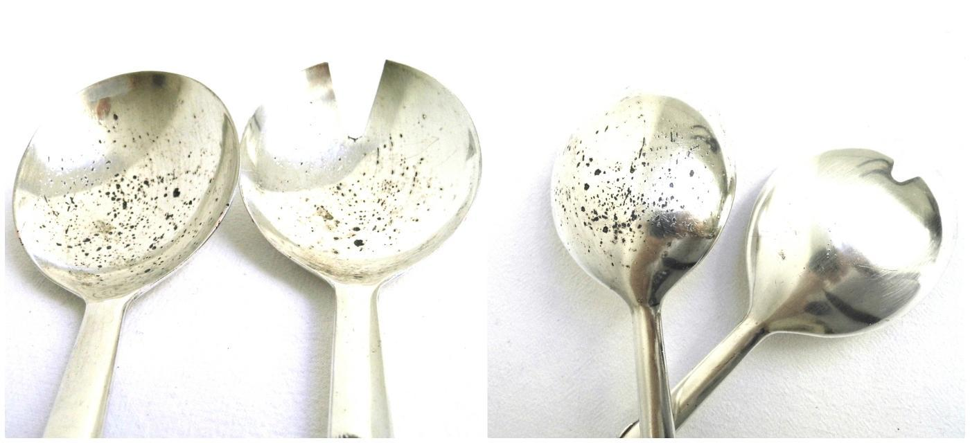 Silver Plated Salad Server Tosser Silea Vintage Metal Serving Utensil Mixing Spoon Ornate Floral Flatware Cutlery Gadget Dining Table Decor