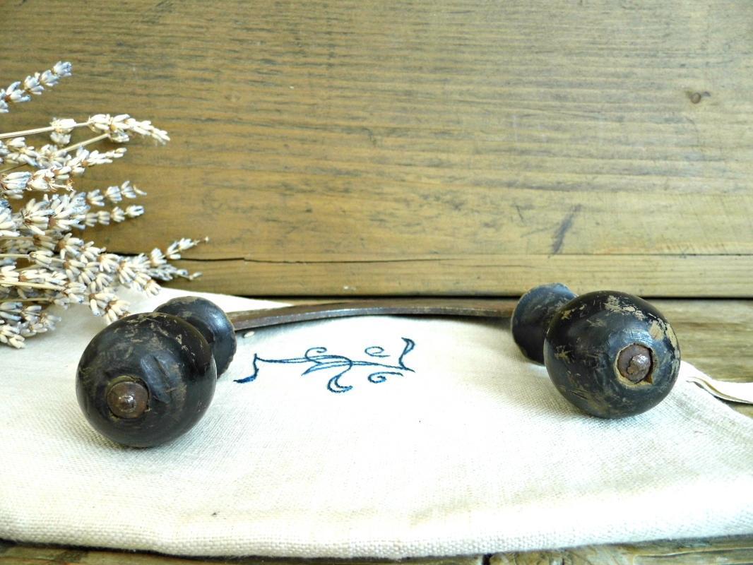 Antique Mezzaluna Rocking Slicer Vintage Herb Chopper Wood Food Mincer Double Handled Vegetable Cutter Knife Kitchen Utensil Farmhouse Decor