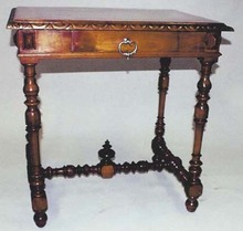 Louis XIII walnut table desk