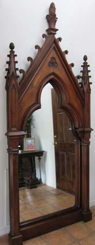 Massive Full-Length Gothic Mirror
