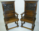 Carved Armchairs