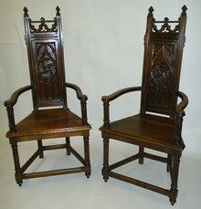 Gothic Armchairs (Caquetoires)