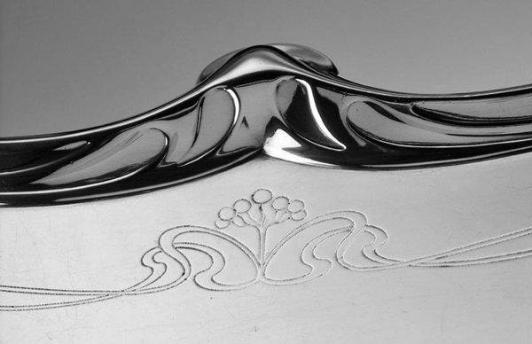 WMF Art Nouveau Jugendstil Silver plate Tray, Germany C.1900.