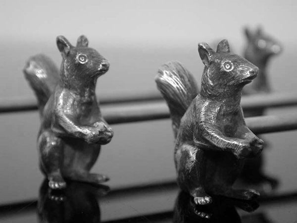 WMF Art Nouveau Squirrel Knife Rests, Germany C.1900
