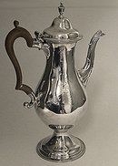 Hester Bateman Georgian Silver Coffee Pot, London 1783