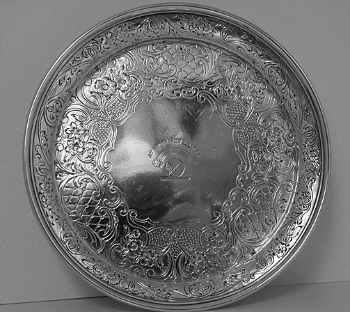 Antique Scottish Silver Wine slide coaster, Edinburgh 1866, James McKay.