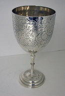 Silver Wine Goblet, London 1862, Hyam Hyams