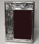 Art Nouveau English Silver Photograph Frame, Birmingham 1906, James Deakin.