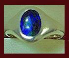 Rare Charles Horner enamel silver Ring, Chester 1910.