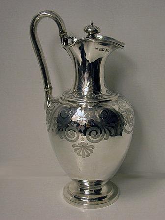 Silver Claret Jug, London 1856, Joseph Charles Eddington